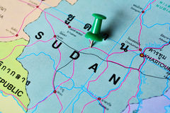 Sudan map Royalty Free Stock Photography