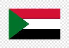 Sudan - nationsflagga royaltyfri illustrationer