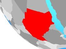 Sudan på jordklotet royaltyfri illustrationer