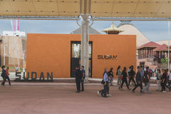 Sudan pavilion at Expo 2105 in Milan, Italy Stock Images