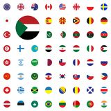 Sudan round flag icon. Round World Flags Vector illustration Icons Set. Sudan round flag icon. Round World Flags Vector illustration Icons Set Royalty Free Stock Images