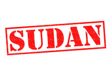 SUDAN. Rubber Stamp over a white background Royalty Free Stock Photography