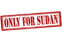 Only for Sudan. Rubber stamp with text only for Sudan inside,  illustration Royalty Free Stock Photography