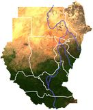 Sudan topography Royalty Free Stock Photography