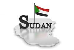 Sudan-Tribut lizenzfreie abbildung
