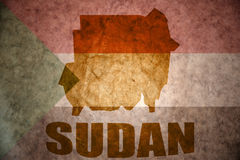 Sudan vintage map Stock Images