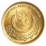 5 sudanese piaster mynt Royaltyfri Fotografi