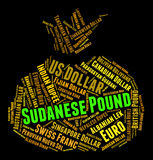 Sudanese Pound Represents Forex Trading And Coin Royalty Free Stock Images