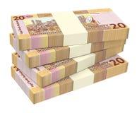 Sudanese pounds bills isolated on white background. Royalty Free Stock Photo