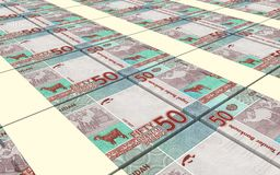 Sudanese pounds bills stacked background. Stock Images