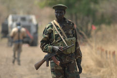 Sudanese soldier 2. A soldier of the Sudan People's Liberation Army Stock Photography