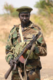 Sudanese soldier. A soldier of the Sudan People's Liberation Army Royalty Free Stock Photo