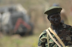 Sudanese soldier. A soldier of the Sudan People's Liberation Army Royalty Free Stock Images