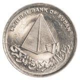 10-sudanische Piaster-Münze Stockbilder