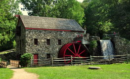 Sudbury, MA: Old Stone Grist Mill Stock Photos