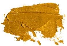 Sudd av krossad guld- ?gonskugga royaltyfri illustrationer