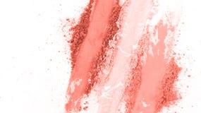 Sudd av krossat rosa pulver arkivfoto