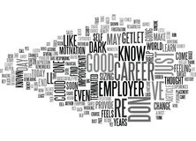 A Sudden Career Change Overview Word Cloud Royalty Free Stock Image