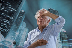Sudden chest pain Stock Image