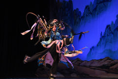 """A sudden stab- Beijing Opera"""" Women Generals of Yang Family"""" Royalty Free Stock Photos"""