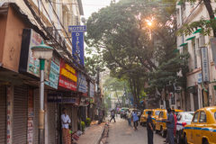 Sudder-Straße, Kolkata, Indien Stockbilder