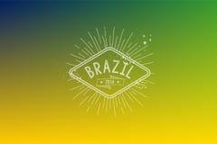 Suddig bakgrund 2014 för Brasilien tappningetikett Arkivbilder