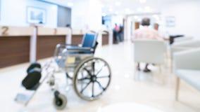 Suddig bakgrund för inomhus modernt sjukhus arkivbild