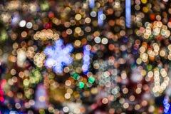 Suddig bakgrund för julljus Royaltyfria Foton