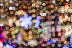 Suddig bakgrund för julljus Arkivbilder
