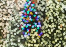Suddig bakgrund för julljus Fotografering för Bildbyråer