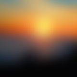 Suddig bakgrund för solnedgång Fotografering för Bildbyråer