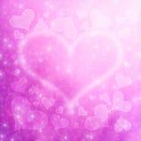 Suddig bakgrund 4 för Valentine's daghjärtor Royaltyfri Fotografi