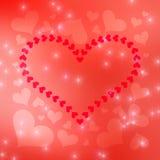 Suddig bakgrund 8 för Valentine's daghjärtor Arkivbild