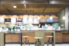 Suddig bakgrund som göras med coffee shop Arkivbilder