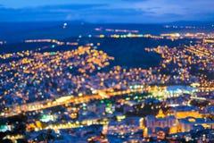 Suddig Bokeh arkitektonisk stads- bakgrund Bakgrund med Urban Fotografering för Bildbyråer