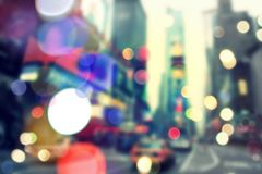 Suddig bokeh New York Royaltyfri Foto
