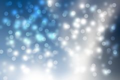 Suddig bokehabstrakt begreppbakgrund, blått Arkivbild