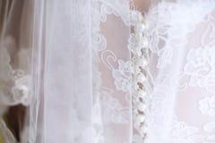 Suddig bröllopsklänning Arkivfoton