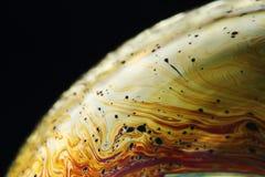 Suddig färg och stänger sig upp fotografiet av en bubblastil Arkivfoton
