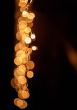 Suddig färgrik cirkelbokeh av julljus Arkivfoto