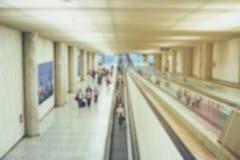 Suddig flygplatssikt Royaltyfri Bild