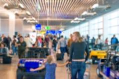 Suddig flygplatssikt Royaltyfria Foton