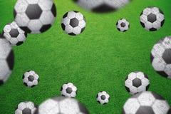 Suddig fotbollboll för Grunge med kopieringsutrymmebakgrund stock illustrationer