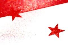 Suddig julbakgrund med stjärnor Fotografering för Bildbyråer
