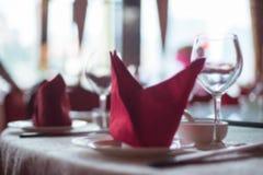 Suddig kinesisk bordsservisbakgrund Arkivbild
