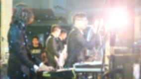 Suddig konsert för levande show för musikmusikband royaltyfria bilder