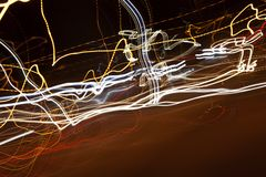 Suddig natt för abstrakt bakgrund Royaltyfria Foton