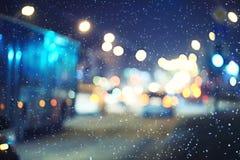 Suddig nattbakgrund Royaltyfria Foton