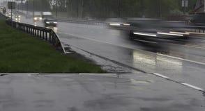 Suddig rörelse av trafik Royaltyfri Bild