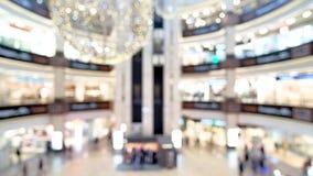 Suddig shoppinggalleriamitt stock video